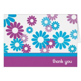 Cartões de agradecimentos Funky das margaridas