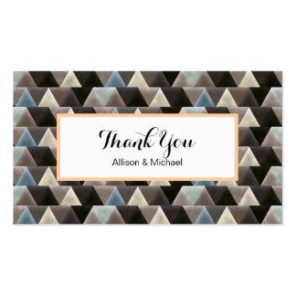 Cartões de agradecimentos geométricos do teste cartão de visita