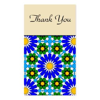 Cartões de agradecimentos geométricos islâmicos do modelos cartao de visita