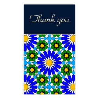 Cartões de agradecimentos geométricos islâmicos do cartões de visita
