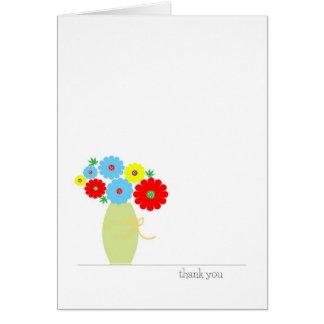Cartões de agradecimentos gerais, flores coloridas