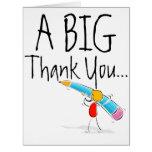 Cartões de agradecimentos gigantes grandes