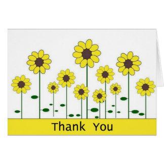 Cartões de agradecimentos (girassol)