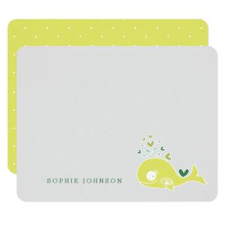 Cartão Cartões de agradecimentos grávidos do chá de