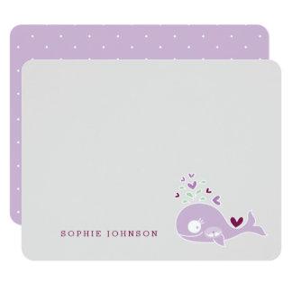 Cartões de agradecimentos grávidos do chá de convite 10.79 x 13.97cm