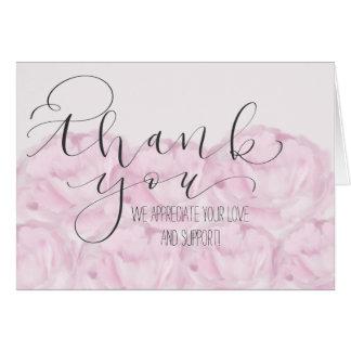 Cartões de agradecimentos handlettered da peônia