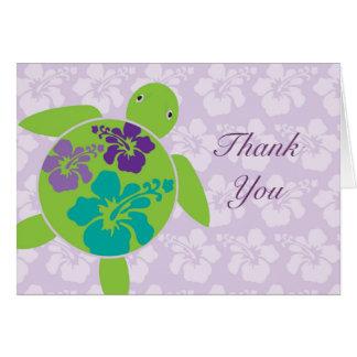 Cartões de agradecimentos havaianos de Honu