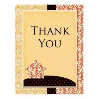 Cartões de agradecimentos Homespun Cartão Postal