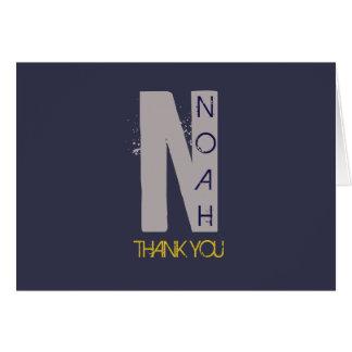 Cartões de agradecimentos iniciais de Mitzvah do