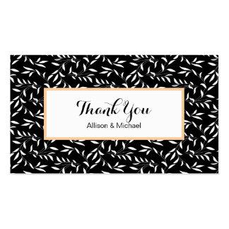 Cartões de agradecimentos Inster do casamento do Cartão De Visita