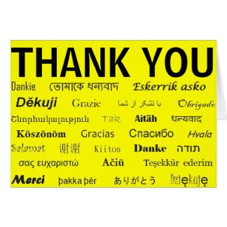 Cartões de agradecimentos internacionais
