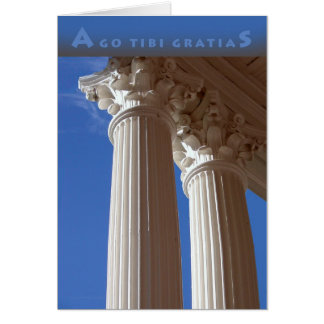 Cartões de agradecimentos Latin