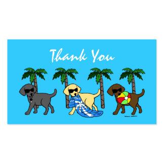 Cartões de agradecimentos legal de Labradors Modelo De Cartões De Visita