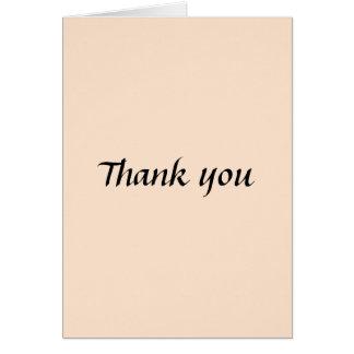 Cartões de agradecimentos leves do Bisque
