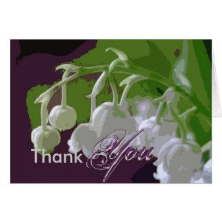 Cartões de agradecimentos, lilly do vale