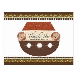 Cartões de agradecimentos lisos da arca de Noah Cartão Postal