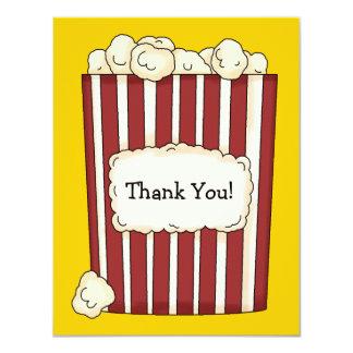 Cartões de agradecimentos lisos da pipoca convite personalizados