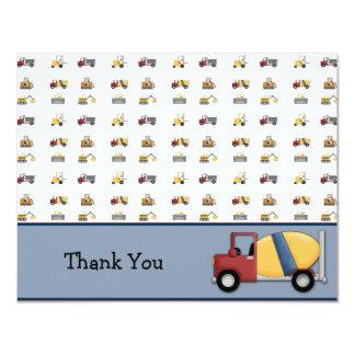 Cartões de agradecimentos lisos do caminhão do convite personalizado