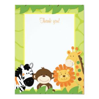 Cartões de agradecimentos lisos dos animais convite 10.79 x 13.97cm