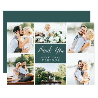 Cartões de agradecimentos lisos Wedding da foto do