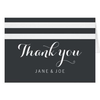 Cartões de agradecimentos listrados