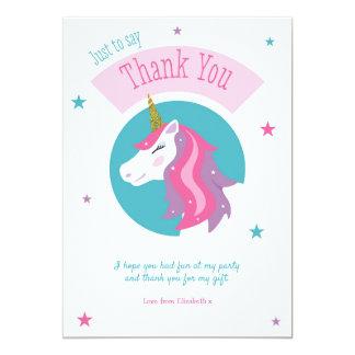 Cartões de agradecimentos mágicos do aniversário