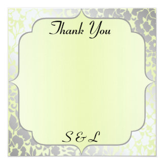 Cartões de agradecimentos metálicos elegantes do convite quadrado 13.35 x 13.35cm