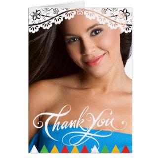 Cartões de agradecimentos mexicanos da graduação
