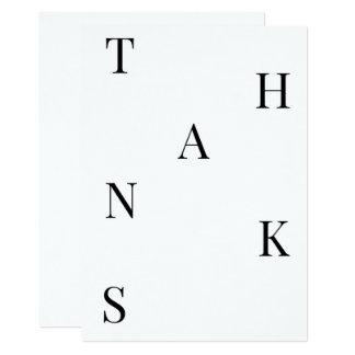 Cartões de agradecimentos mínimos