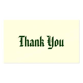 Cartões de agradecimentos modelo cartões de visita