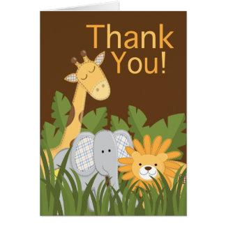 Cartões de agradecimentos modernos bonitos da