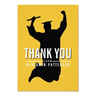 Cartões de agradecimentos modernos da graduação da convites personalizados