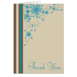 Cartões de agradecimentos modernos da natureza