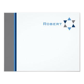 Cartões de agradecimentos modernos de Mitzvah do
