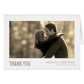 Cartões de agradecimentos modernos do casamento do