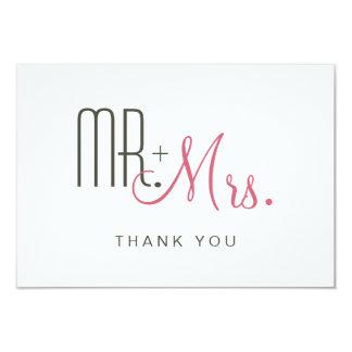 Cartões de agradecimentos modernos retros convite 8.89 x 12.7cm