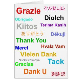 Cartões de agradecimentos multilingues