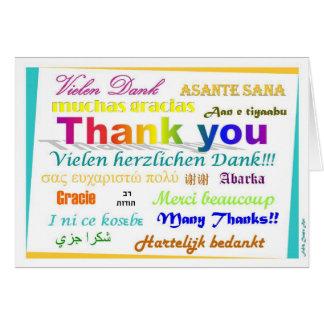 Cartões de agradecimentos - multilingues