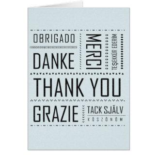 Cartões de agradecimentos multilíngues