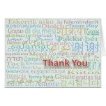 Cartões de agradecimentos múltiplos da língua