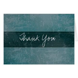 Cartões de agradecimentos na moda da cerceta do