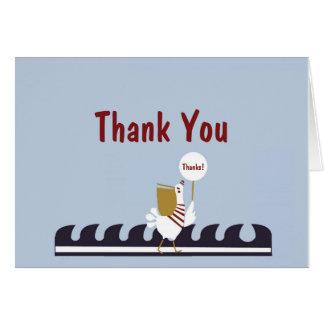 Cartões de agradecimentos náuticos da cena do