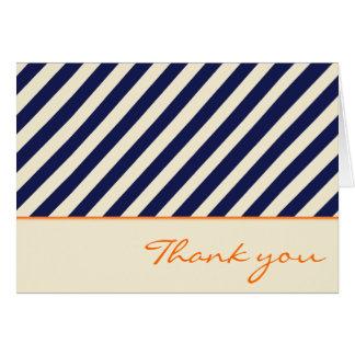Cartões de agradecimentos náuticos da listra do