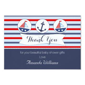 Cartões de agradecimentos náuticos do chá de convite 8.89 x 12.7cm