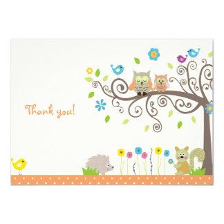 Cartões de agradecimentos neutros do chá de convite 11.30 x 15.87cm