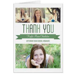 Cartões de agradecimentos orgulhosos da graduação
