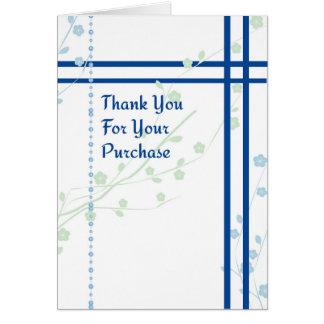 Cartões de agradecimentos para a compra