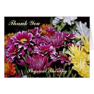 Cartões de agradecimentos para a fisioterapia