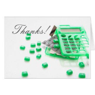Cartões de agradecimentos para contadores surpreen