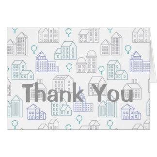 Cartões de agradecimentos para o oficial do